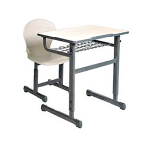 moulded board student desk/Werzalit molded table/school desk and chair set