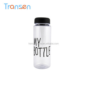Zhejiang manufacturer 500ml BPA Free my water bottles custom plastic portable beverage drinking bottle water