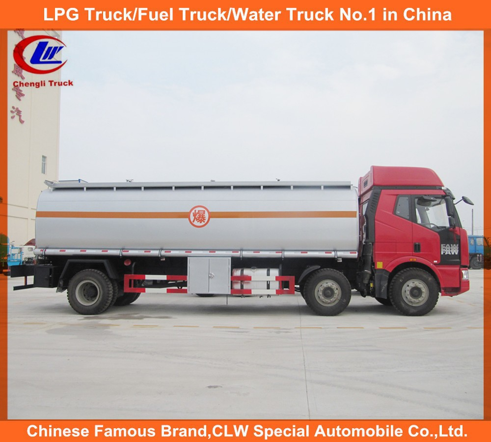 Used Fuel Tanker Trucks Faw 6x2 Oil Tanker Truck 8 wheels Truck for sale free spare parts