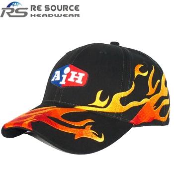 f30296241dba39 6 panels cap fresh looks fire embroidery logo cotton twill baseball caps  hats