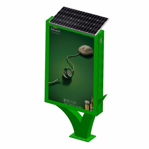 Advertising firm structure street side solar outdoor light box