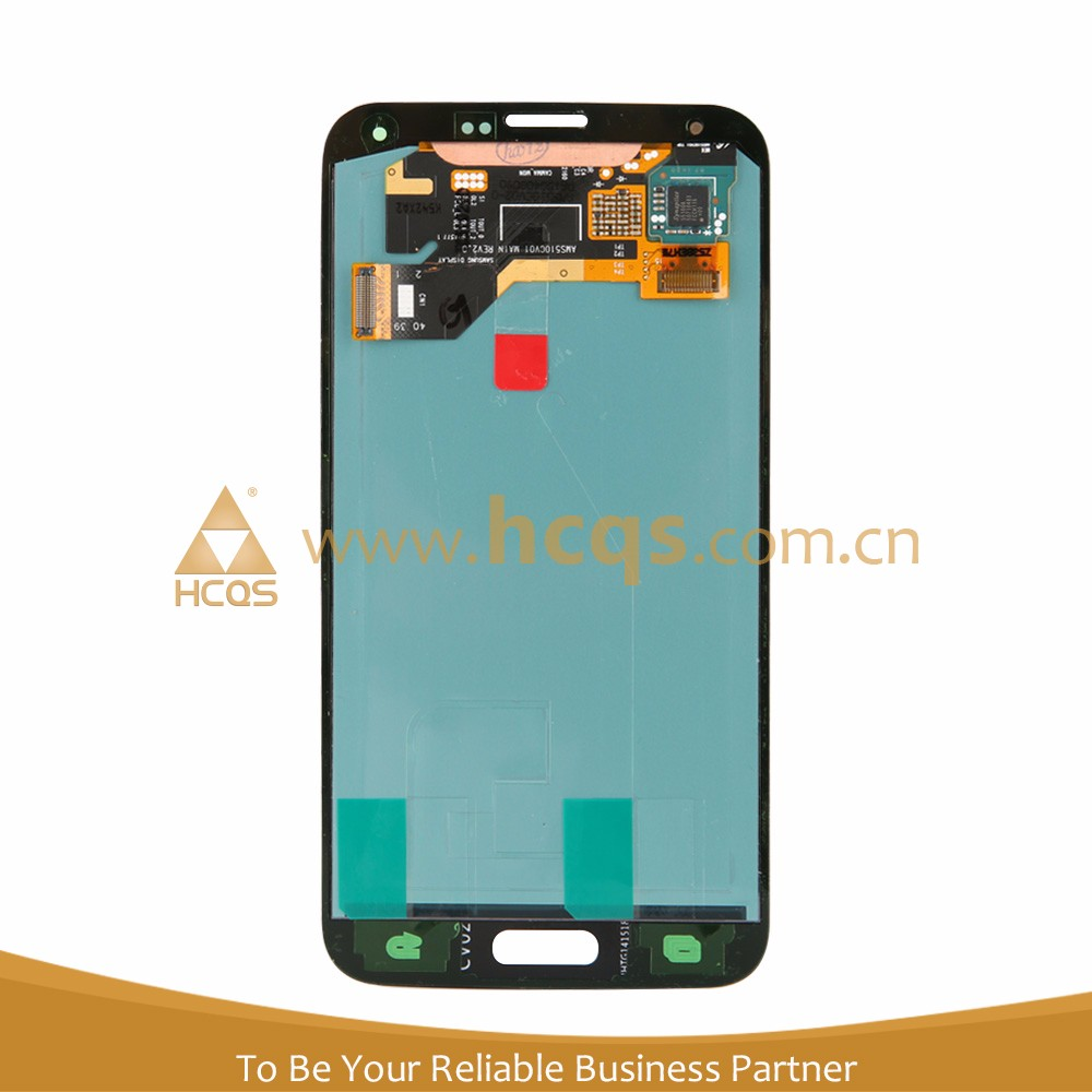 No Dead Pixel Front Glass Digitizer LCD screen for galaxy s5 with low price