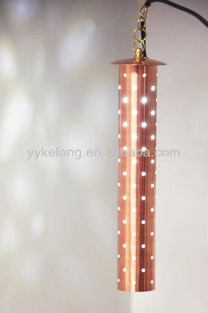 Classic hanging pendant lights 12V low voltage garden natural copper pendant lighting