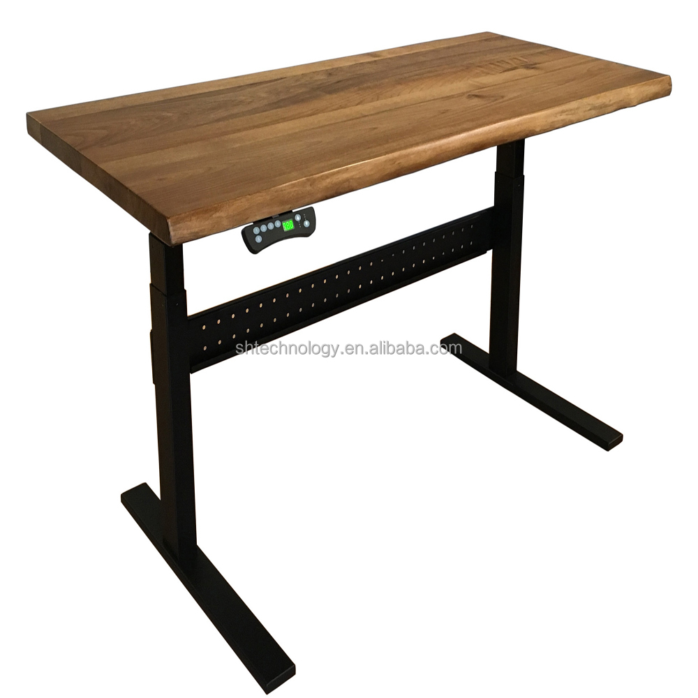 Electric sit standing up desk/table for furniture for ergonomic