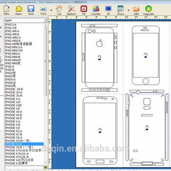 daqin custom vinyl phone skin cut templates folding box template