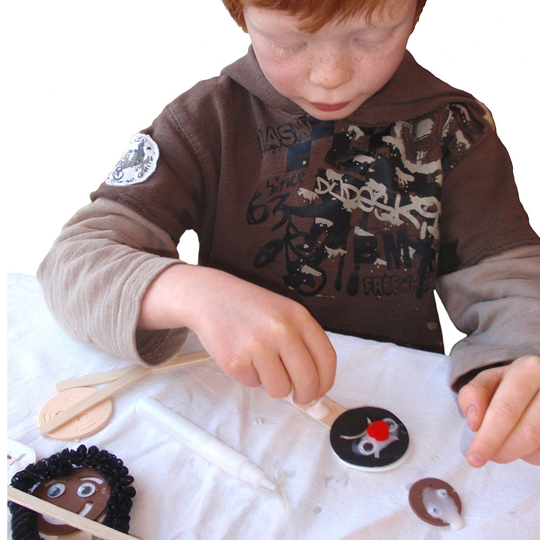 Mister Maker Make A Face Kit 10 Designs Kids Children Craft Play