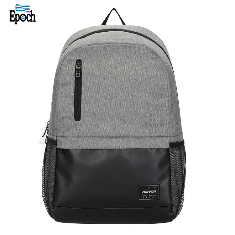 Chinese Factory Gery Student Leisure Custom Bookbag For Sale