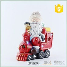 Ceramic Christmas Train For Decoration 2017 With Mr Santa Claus