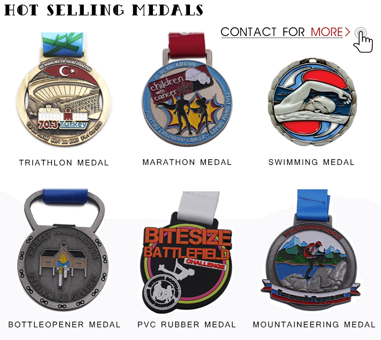 Wholesale Custom Zinc Alloy 3D Gold Metal Award Engraving Logo Marathon Finisher Running Sports Medals