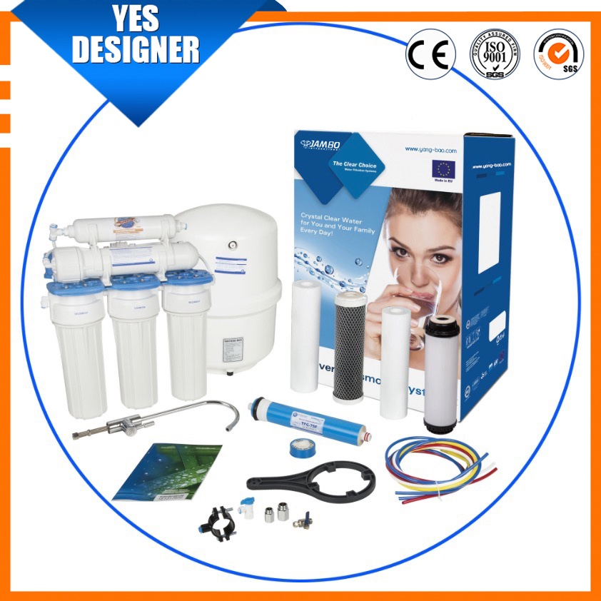 high quality single carbon block water purifier 5/6/7 stages ro water purifiers 5 stages ro reverse osmosis 100 gpd