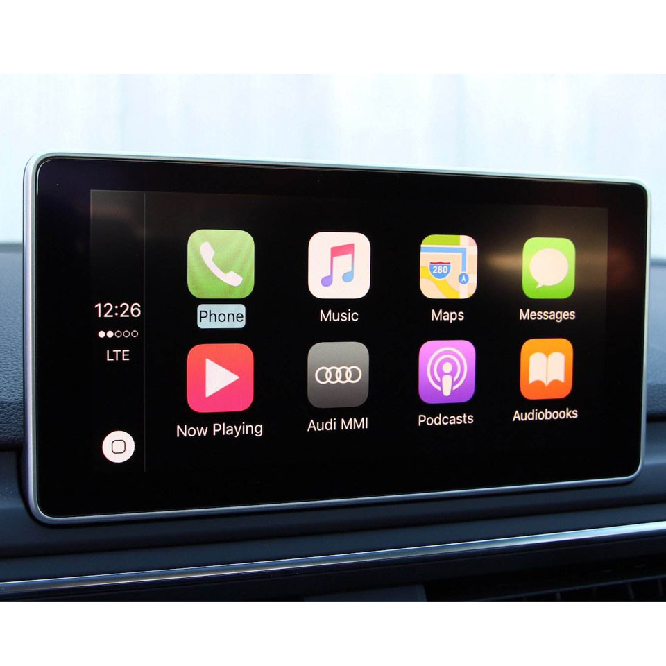 Auto Video Interface met Telefoon Mirrorring Miracast Apple Carplay Android Auto Adapter voor Audi