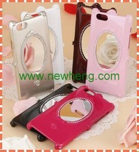 3D Magic Mirror with rose Flower Plastic case for iPhone 6