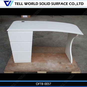 Office Desk Hardware Parts Luxury Ceo Marble Computer