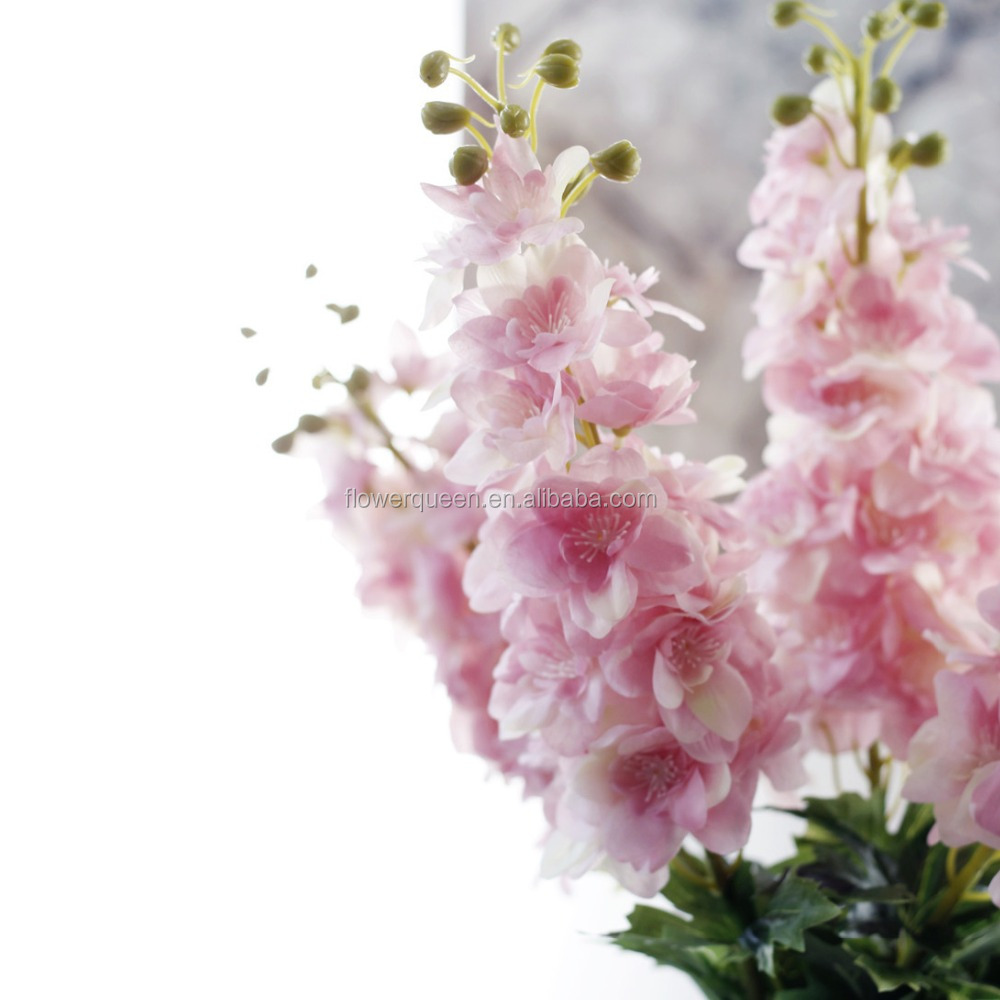 Real Touch White Delphinium Silk Flowers Artificial Flowers