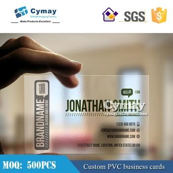 Carte De Visite Transparente EN PVC Impression Cartes Des En Plastique