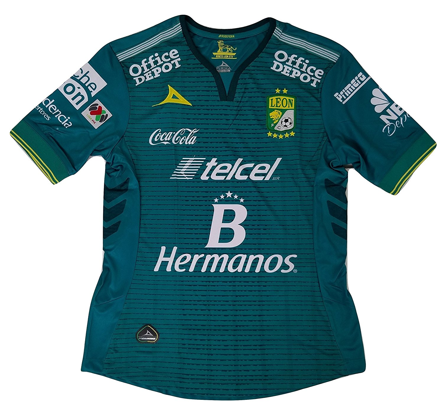 Get Quotations · Club Leon Authentic Home Soccer Jersey c3d8f036fb
