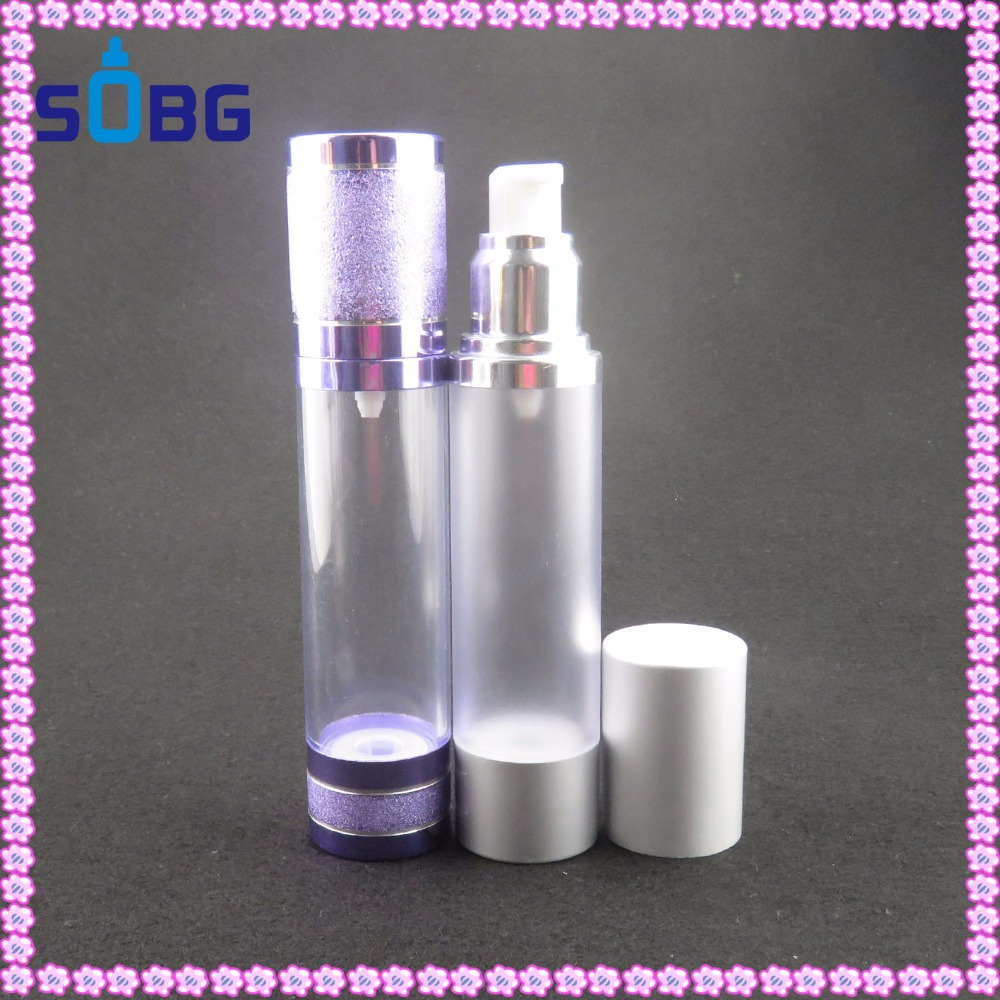 pump spray sealing type plastic bottle and skin care creams packaging, perfume use 30ml 100ml airless bottle