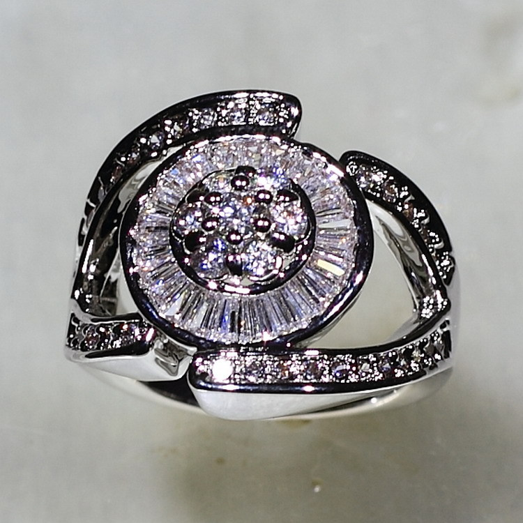 SJYR6920 Luxury Brand Fashion Platinum Plated Evil Eye Ring Paved Micro Zircon Crystal Wedding Women Rings