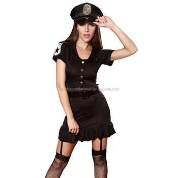 Wholesale Adults Sex Costume Female Police Officer Halloween Cosplay Uniform