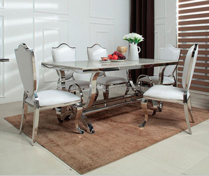 wholesale modern 8 seater dining table design for hotel restaurant