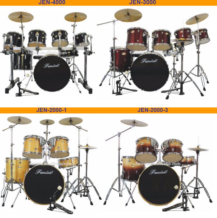 5 PC PVC Cover Jazz Drum Set JFN1500--6