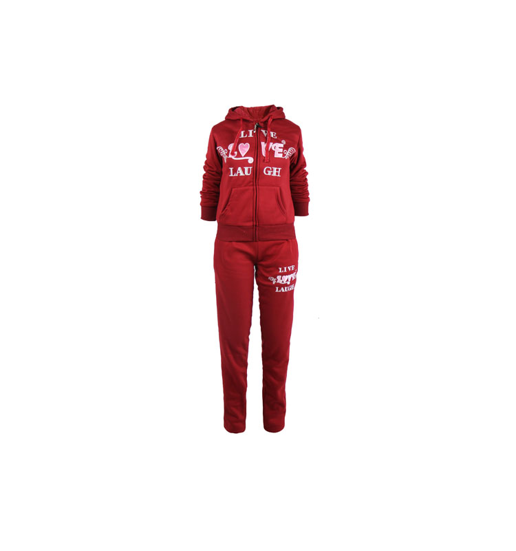 Fashion custom 100% polyester warm tracksuit fabric girls tracksuits