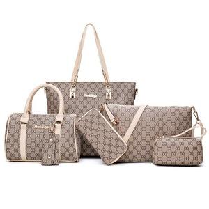 9b3799ecc4 Hot Sale Elegant Lady Shoulder Bag Women Tote Bag 6pcs PU Leather Bag