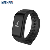 2018 Amazon top seller fitness tracker ce rohs waterproof f1 smart bracelet bangle watch