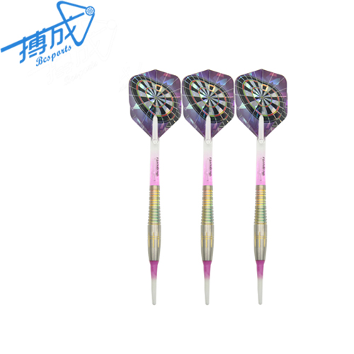 Colorful Two Tone Plastic Dart Soft Tips Dart Pins