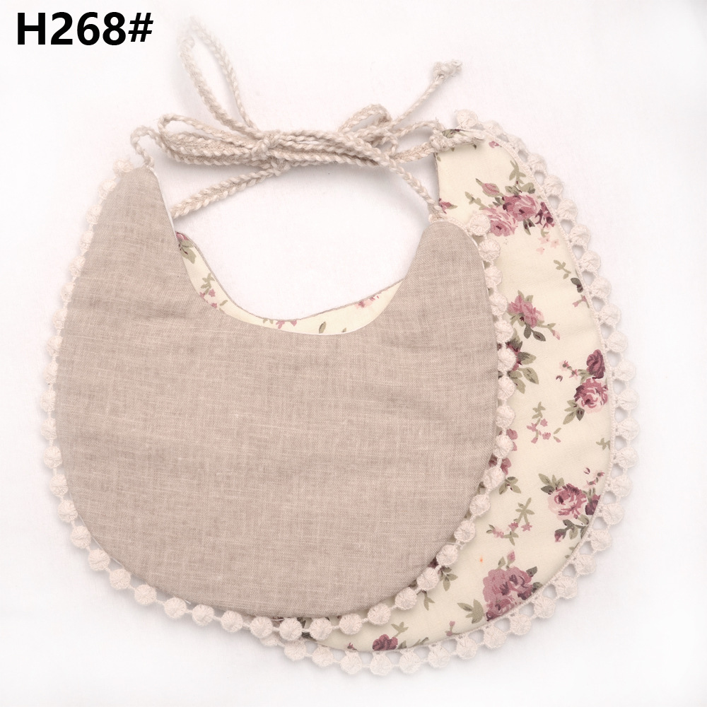 S62573B 2018 top selling Cotton Baby Bandana Bibs for Drooling and Teething Baby Bibs With Tassels Bandana Organic