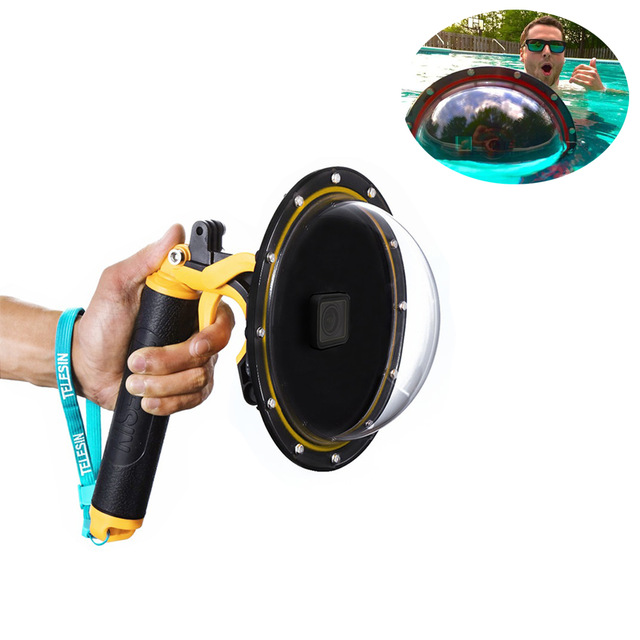 2018 New Dome Port Set Lens Transparent Housing Cover Case for Gopro Hero 5 for diving housing case for 3ds xl