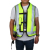 TCMT XF270801-L Black Yellow Air bag Motorcycle Protect Airnest Airbag Vest Hi Viz Size L New