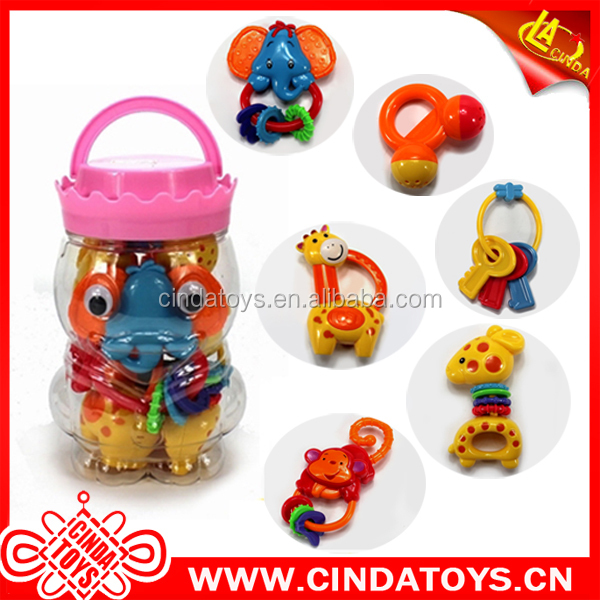 Beneficial children intellectual toys Baby rattle toys plastic preschool gift toys