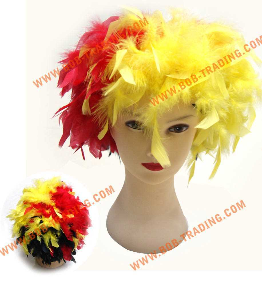 2015 football fans wig/color wig/afro wig hair beauty cap