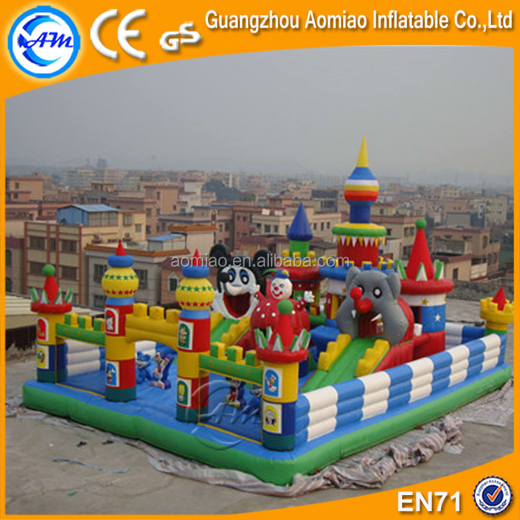 2017 hot sale inflatable bouncy castle inflatable amusement park inflatable jumping fun city for kid's party