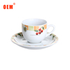 Wholesale plain white personalized ceramic espresso porcelain cup and saucers