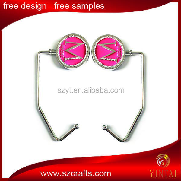 High quality soft enamel metal baghanger with white rhinestone