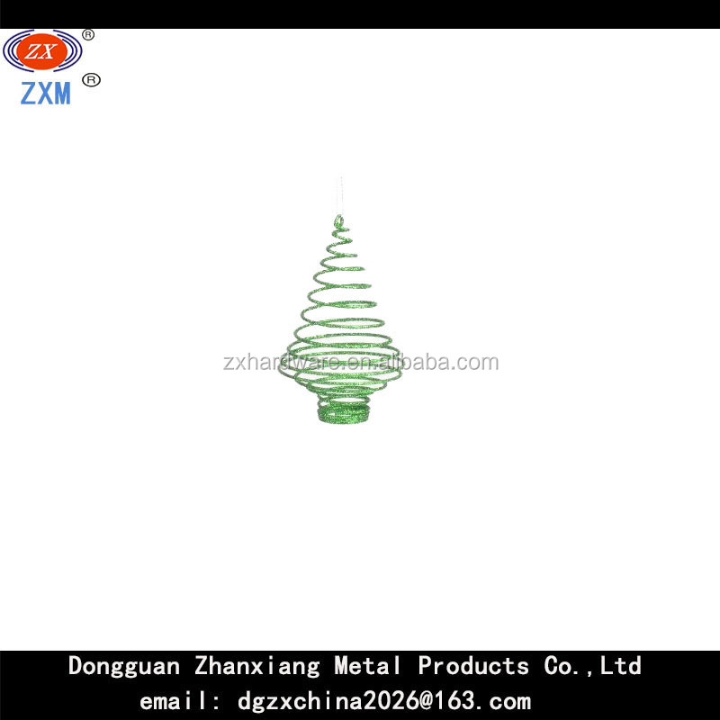green metal spring tree shape ornament spring