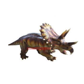 Amusement park fiberglass decoration statue lifelike cartoon dinosaur