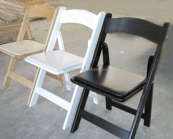 Cheap Wood Folding Chair Wood Wimbledon Chair/ Timber Padded Foldingchair