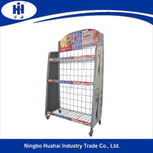 Display stand/metalen display rack/draad display rekken voor pet food