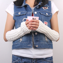 Wholesale Winter Warm Long Arm Sleeves Acrylic Knit Elbow Length ...