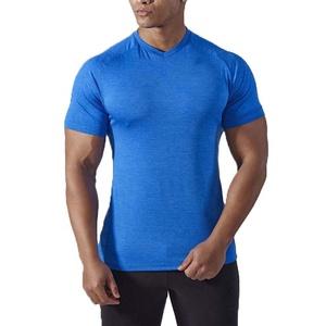 Custom made black spandex sport t shirt fitness compression t shirt