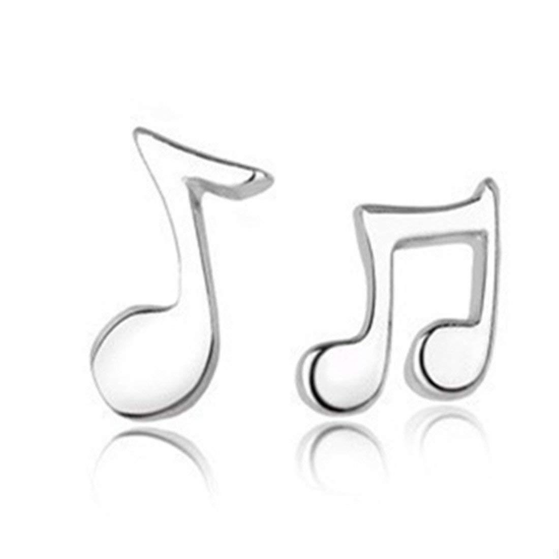 Cute Music Note Earrings, Silver Music Earrings, Note Earrings, Cute Earrings, Music Studs, Music Jewelry