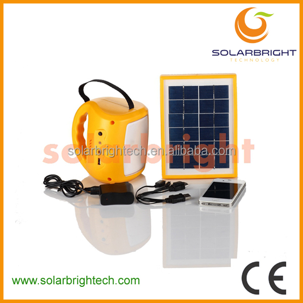 SOLARBRIGHT emergency portable mini solar rechargeable LED USB mobile charger solar powered hanging lantern light
