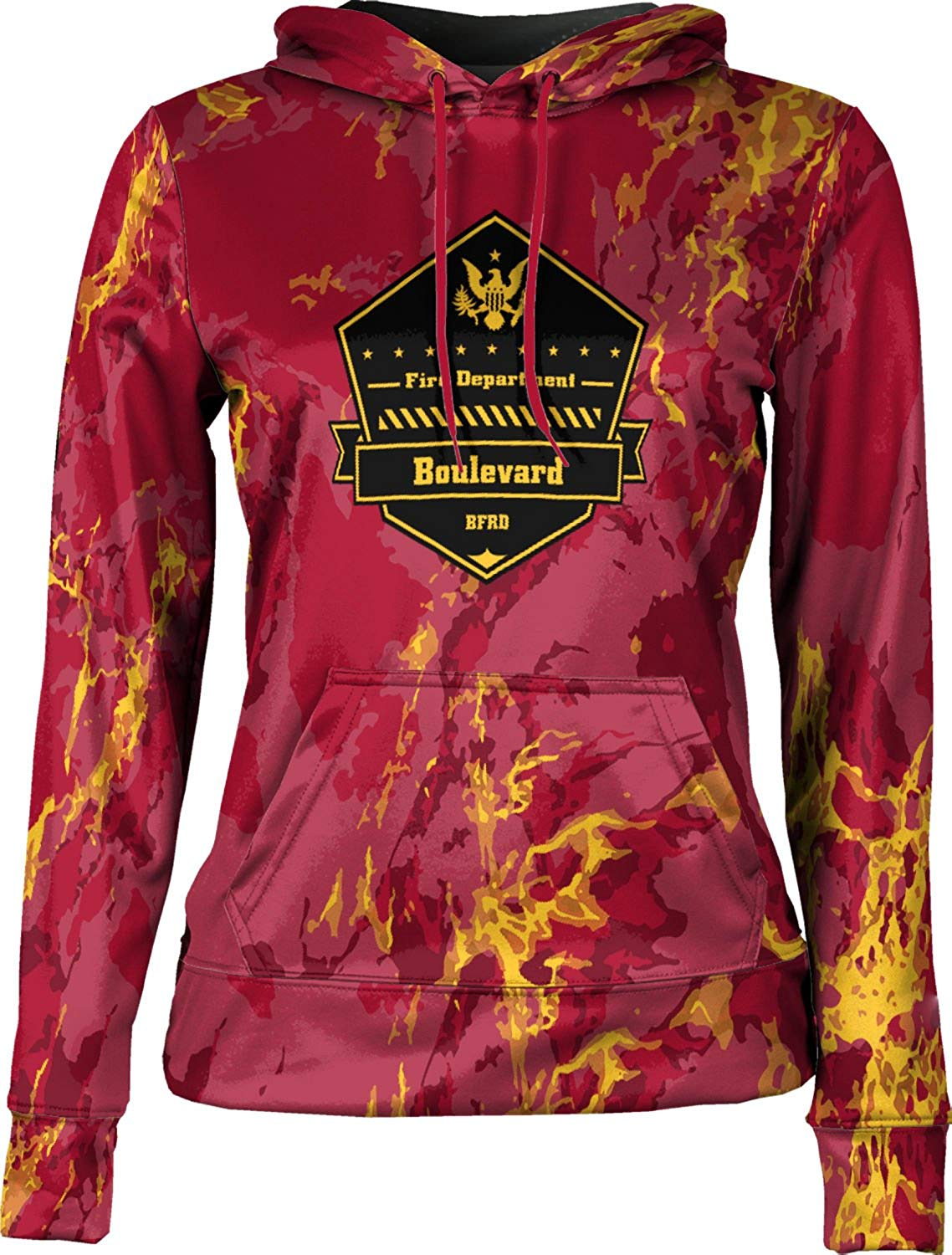 ProSphere Girls' Boulevard Fire and Rescue Department Fire Department Marble Hoodie Sweatshirt