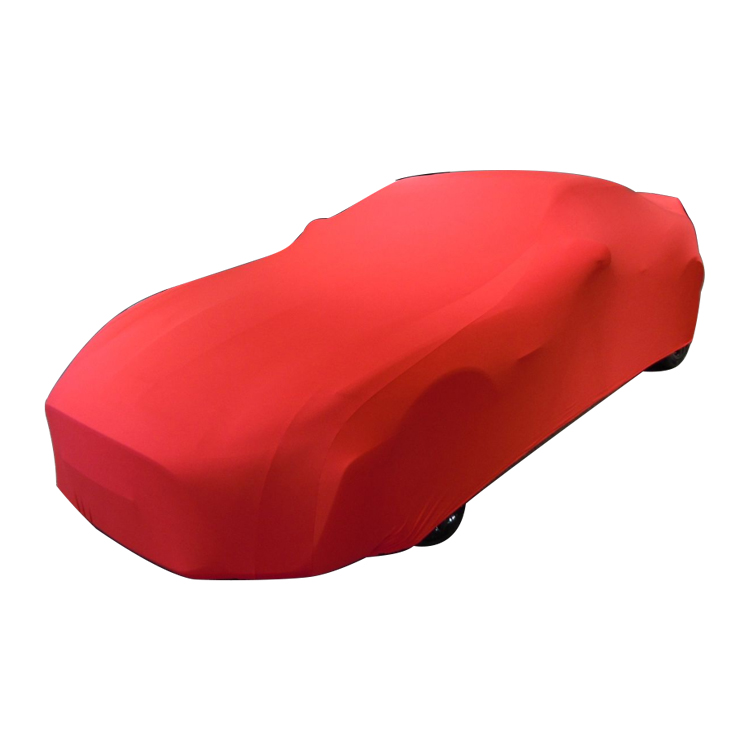 Individuell bedruckte Werbung ausgestattet Fancy Elastic Spandex Stretch Lycra Soft Indoor Mobile Car Cover