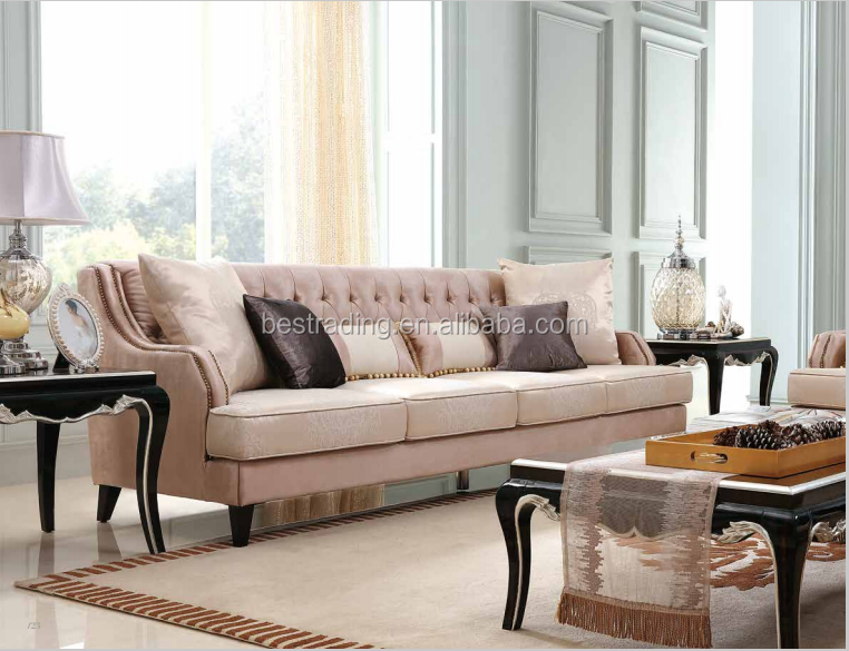 French floral antique style fabric sofa,new design European style sofa