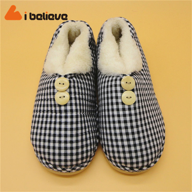 fashion winter <strong>slipper</strong> ladies and men outdoor/indoor cotton plush shoes stock