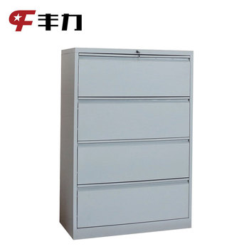Metal Office Furniture Narrow Side Metal 4 Drawer Lateral Filing Cabinet Buy Lateral File Cabinet4 Drawer File Cabinetoffice Drawer File Cabinet